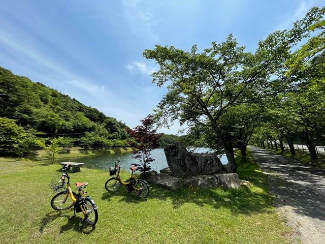 羽高湖レンタサイクルの写真